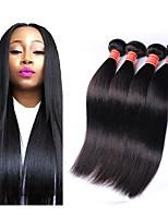 Недорогие -4 Связки Бразильские волосы Прямой Не подвергавшиеся окрашиванию 100% Remy Hair Weave Bundles Головные уборы Человека ткет Волосы Удлинитель 8-28 дюймовый Естественный цвет Ткет человеческих волос