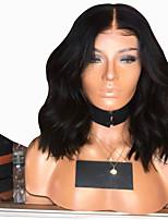 Недорогие -Парики из искусственных волос Естественные кудри Стиль Стрижка каскад Без шапочки-основы Парик Черный Черный Искусственные волосы 38~42 дюймовый Жен. Новое поступление Черный Парик Средняя длина