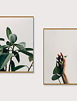 Недорогие -Отпечаток в раме Набор в раме - Натюрморт Цветочные мотивы / ботанический Полистирен Фотографии Предметы искусства