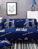 cheap -Cartoon City Print Dustproof All-powerful Slipcovers Stretch Sofa Cover Super Soft Fabric Couch Cover with One Free Pillow Case