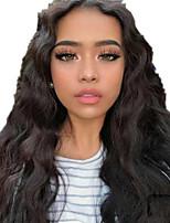 Недорогие -Человеческие волосы без парики Натуральные волосы Естественные кудри Средняя часть Стиль Женский Черный Длинные U-образный Парик Бразильские волосы Жен.