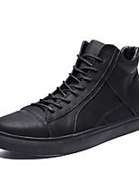 Недорогие -Муж. Комфортная обувь Кожа Зима Спортивные / На каждый день Кеды Для прогулок Сохраняет тепло Черный / на открытом воздухе / Зимние сапоги / Fashion Boots