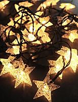 Недорогие -7м пентаграмма гирлянда 50 светодиодов теплое белое рождество новый год партия декоративная солнечная 1 комплект