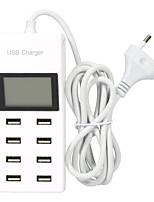 Недорогие -8 многопортовая зарядная станция USB зарядное устройство гнездо USB с ЖК-дисплеем для Iphone HTC Samsung и других USB-устройств