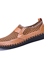 cheap -Men's Comfort Shoes Mesh Fall / Spring & Summer Casual Loafers & Slip-Ons Walking Shoes Breathable Brown / Green / Blue