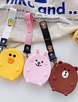 Недорогие -Портмоне для портативных наушников сумка для хранения милый мультфильм силиконовый ремешок
