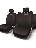 Недорогие -sparco универсальный чехол для сиденья - черный / наборы подушек для талии, черные синтетические волокна, общие для всех лет