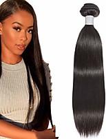 Недорогие -6 Связок Бразильские волосы Прямой Не подвергавшиеся окрашиванию 100% Remy Hair Weave Bundles Головные уборы Человека ткет Волосы Удлинитель 8-28 дюймовый Естественный цвет Ткет человеческих волос