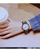 Недорогие -Жен. обернуть часы Кварцевый Кожа Повседневные часы Милый Аналоговый Классика минималист - Черный Черный / Белый Белый / синий