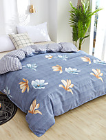 cheap -Classic bedding set grey blue flower bed linens 4pcs/set duvet cover set Pastoral bed sheet duvet cover
