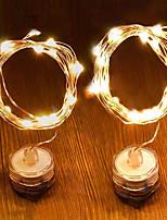 Недорогие -1m Гирлянды 10 светодиоды Тёплый белый / Холодный белый Декоративная 5 V 1 комплект