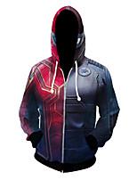Недорогие -Вдохновлен Косплей Супер-герои Аниме Косплэй костюмы Японский Косплей толстовки Аниме Толстовка Назначение Муж.
