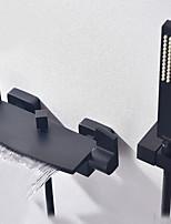 Недорогие -Смеситель для ванны - Подставка Окрашенные отделки Другое Керамический клапан Bath Shower Mixer Taps