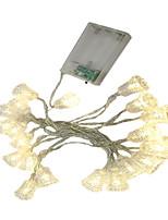 Недорогие -3M Гирлянды 20 светодиоды ДИП светодиоды Тёплый белый / Белый / Разные цвета Декоративная / Новогоднее украшение для свадьбы Аккумуляторы 1шт