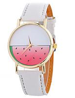Недорогие -Нарядные часы Кожа Аналоговый Белый Красный Розовый с красным / Нержавеющая сталь