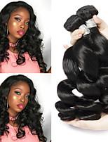 Недорогие -6 Связок Перуанские волосы Свободные волны Необработанные натуральные волосы 100% Remy Hair Weave Bundles Головные уборы Человека ткет Волосы Пучок волос 8-28 дюймовый Естественный цвет