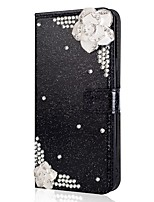cheap -Case For Samsung Galaxy Note 20 Ultra S20 Plus S10 Plus Wallet Card Holder  with Stand Glitter Shine Camellia PU Leather Case For Samsung S9 Plus S8 Plus S7 Edge Note 10 Plus A51 A71