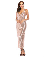 cheap -Diva Retro Vintage Disco 1980s Summer Dress Women's Sequins Sequin Costume Black / Champagne Vintage Cosplay Party