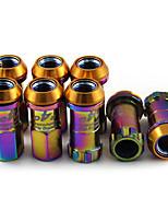 Недорогие -r40 20 шт. / компл. 1.5 spec красочные железные гайки крепления колесных гаек 2 противоугонные винты