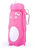 Недорогие -Бутылка для воды Складная бутылка для воды Силиконовые Портативные Складной для На открытом воздухе Путешествия Розовый