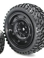 Недорогие -2 * 1/16 Scale RC Car Tire & Wheel - 2pcs Other Ластик Неприменимо