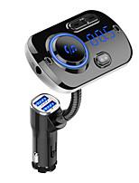 Недорогие -FM-передатчик Bluetooth 5.0 автомобильный комплект громкой связи mp3 музыкальный проигрыватель поддержка TF карты / U воспроизведения дисков Dual USB быстрая зарядка bc49a