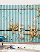 Недорогие -Горячие продажи красивая морская звезда пвх печать оконные шторы товары для дома роскошные теплоизоляция плотные ткани для штор для гостиной спальни