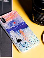 Недорогие -чехол для apple iphone x / iphone 7 plus шаблон задняя крышка пейзажи мягкий тпу водонепроницаемый / пылезащитный / тиснение чехол для телефона чехол для iphone 5 / 5s / 5se / iphone 6 / 6s / iphone 6