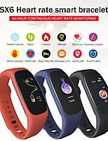 Недорогие -Sx6 smart band ip67 мониторинг артериального давления сердечного ритма сна умный браслет информация о вызове напомнить спорт фитнес-браслет