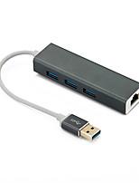 Недорогие -usb3.0 концентратор гигабитный сетевой адаптер ethernet3 порт концентратор USB 3.0 к rj45 10/100 / 1000m LAN карта для MacBook Windows 10
