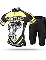 Недорогие -XINTOWN Муж. С короткими рукавами Велокофты и велошорты Черный / желтый Животное Велоспорт Дышащий Виды спорта Животное Горные велосипеды Шоссейные велосипеды Одежда / Эластичная