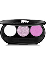 Недорогие -3 цвета Тени Тени для век / На открытом воздухе Легко для того чтобы снести / Pro / Прост в применении / Ультралегкий (UL) Офис Повседневный макияж косметический