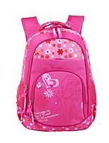 Недорогие -Большая вместимость Нейлон Молнии рюкзак Мультипликация Повседневные Пурпурный / Девочки