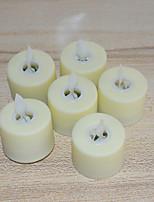 Недорогие -6шт Беспламенные свечи Тёплый белый Батарея с батарейкой Милый / Креатив / День рождения Аккумуляторы