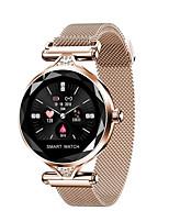 Недорогие -h1 женщины умные часы reloj inteligente монитор сердечного ритма фитнес-трекер леди smartwatch браслет bluetooth водонепроницаемый