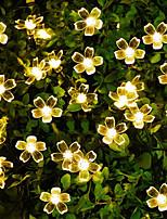Недорогие -7 м вишневый цвет струнные светильники 50 светодиоды теплый белый / белый фестиваль украшения в помещении наружное освещение внутреннего двора декоративные солнечные 1 комплект