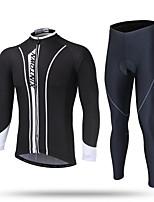 Недорогие -XINTOWN Муж. Длинный рукав Велокофты и лосины Черный / Белый Велоспорт Дышащий Виды спорта Однотонный Горные велосипеды Шоссейные велосипеды Одежда / Эластичная