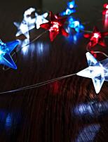 Недорогие -2 м гирлянды 20 светодиодов американские звезды флаг освещения день независимости декор 3 В 1 компл.