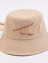 Недорогие -Универсальные Активный Классический Симпатичные Стиль Вязаная шапочка Шляпа от солнца Хлопок,Контрастных цветов Все сезоны Бежевый Темно синий Желтый