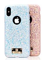 Недорогие -Кейс для Назначение Apple iPhone XS / iPhone XR / iPhone XS Max Защита от удара / Сияние и блеск Кейс на заднюю панель Однотонный Твердый ПК