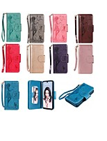 cheap -Case For Huawei Huawei P30 / Huawei P30 Pro / Huawei P30 Lite Wallet / Card Holder / with Stand Full Body Cases Cat / Sexy Lady Hard PU Leather