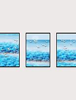 Недорогие -Отпечаток в раме Набор в раме - Абстракция Пейзаж Полистирен Масляные картины Предметы искусства