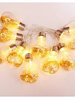 Недорогие -2м Гирлянды 10 светодиоды Тёплый белый Декоративная Солнечная энергия 1 комплект
