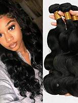 Недорогие -6 Связок Малазийские волосы Естественные кудри Не подвергавшиеся окрашиванию 100% Remy Hair Weave Bundles Головные уборы Человека ткет Волосы Удлинитель 8-28 дюймовый Естественный цвет / Без запаха