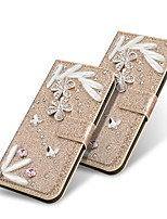 cheap -Case For Samsung Galaxy S20 Ultra /S20 Plus/S10 Plus Wallet / Card Holder / with Stand Glitter Shine Diamond Feathers PU Leather Case For Samsung S9 Plus /S8 Plus /S7 Edge/Note 10 Pro /A51/A71