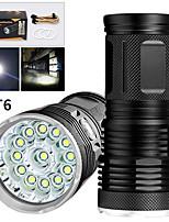 Недорогие -EX13 Светодиодные фонари 10400 lm Светодиодная лампа LED 13 излучатели Руководство 3 Режим освещения Водонепроницаемый Для профессионалов Анти-шоковая защита