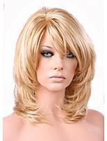 Недорогие -Парики из искусственных волос Loose Curl Стиль Стрижка каскад Без шапочки-основы Парик Золотистый Светло-золотой Искусственные волосы 38~42 дюймовый Жен. Новое поступление Золотистый Парик