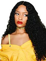 Недорогие -4 Связки Бразильские волосы Kinky Curly Не подвергавшиеся окрашиванию Необработанные натуральные волосы Человека ткет Волосы Удлинитель Пучок волос 8-28 дюймовый Естественный цвет / Без запаха