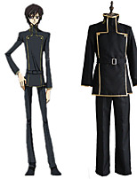 cheap -Inspired by Code Gease Lelouch Lamperouge Anime Cosplay Costumes Japanese Cosplay Suits Top Pants Waist Belt For Men's Women's