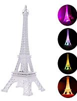 Недорогие -Brelong Эйфелева башня ночные светильники акриловые многоцветный световой рабочий стол ночные светильники дети рождественские подарки праздник спальня украшения огни